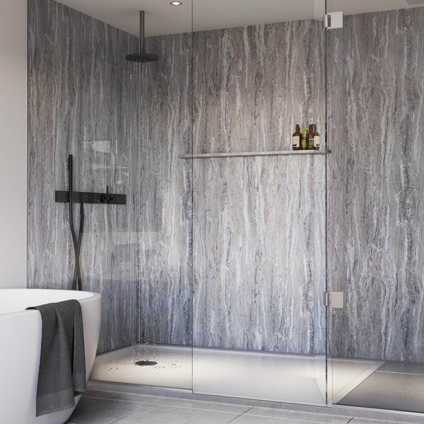 Showerwall Blue Toned Stone waterproof shower wall panel