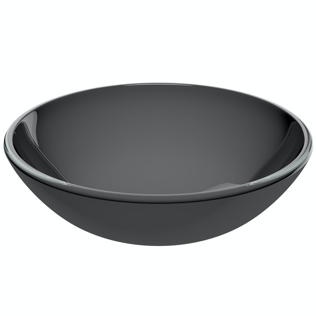 Mode Mackintosh painted black glass countertop basin