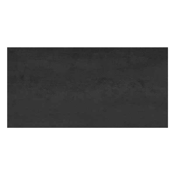Amadeus black stone effect matt wall and floor tile 300mm x 600mm
