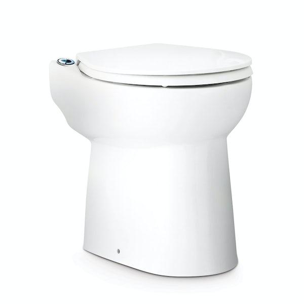 Saniflo Sanicompact cisternless back to wall toilet and macerator