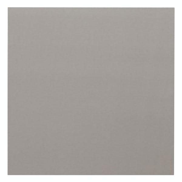 Cordova mid grey flat gloss wall and floor tile 600mm x 600mm