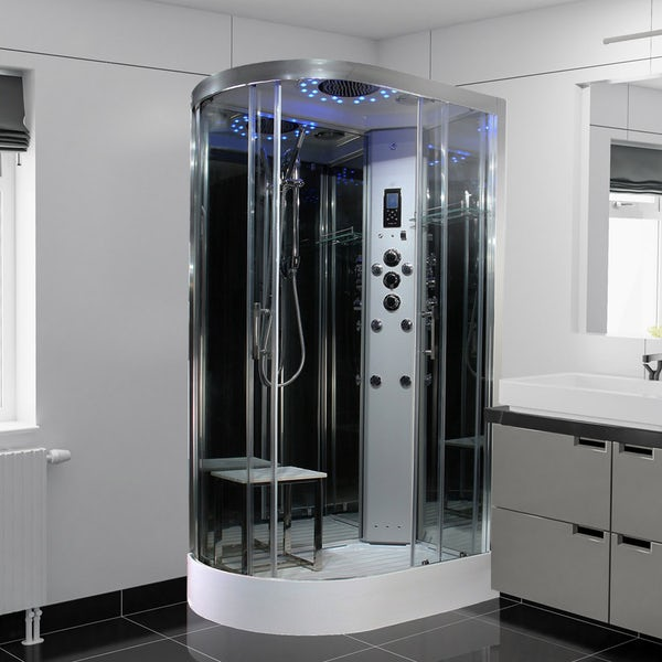 Insignia Platinum offset quadrant right handed steam shower cabin