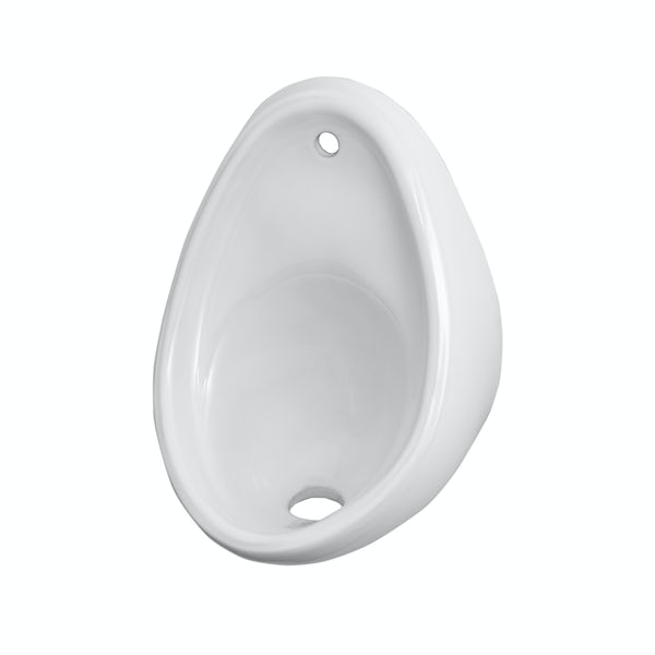 Kirke Curve exposed urinal 400mm