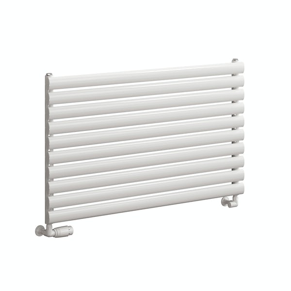 Reina Roda white single steel designer radiator