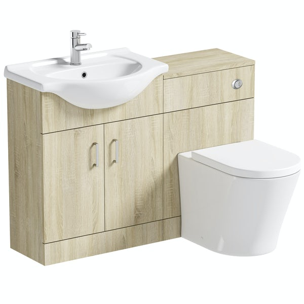 Orchard Eden oak 1140 combination with  contemporary toilet and seat