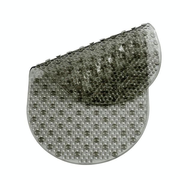 PVC smoke grey bath mat
