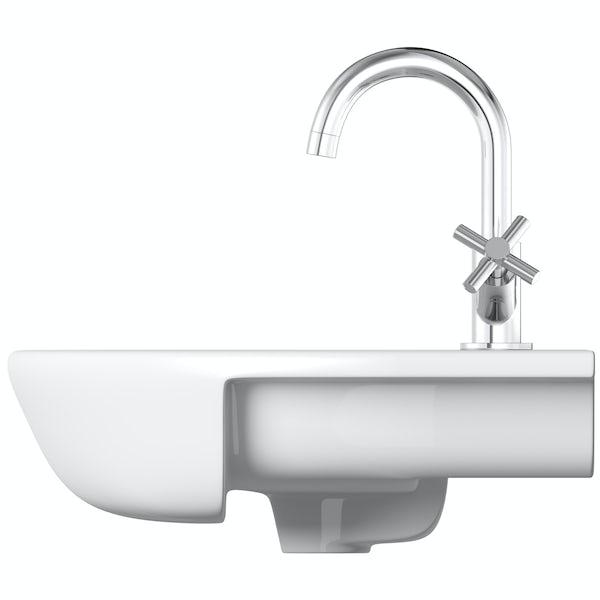 Mode Tate 1 tap hole semi recessed countertop basin 550mm