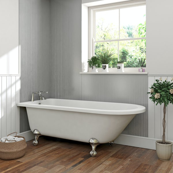 The Bath Co. Traditional single ended bath with ball and claw feet 1700 x 750