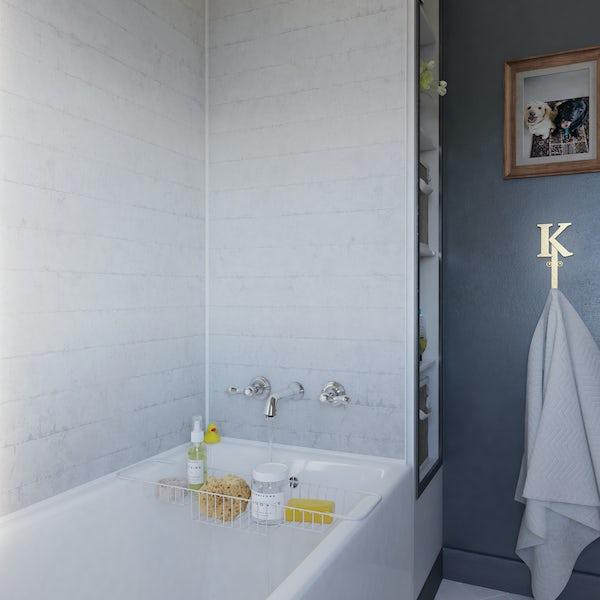 Showerwall Chalked Brick waterproof shower wall panel