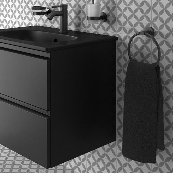 Ideal Standard IOM silk black towel ring