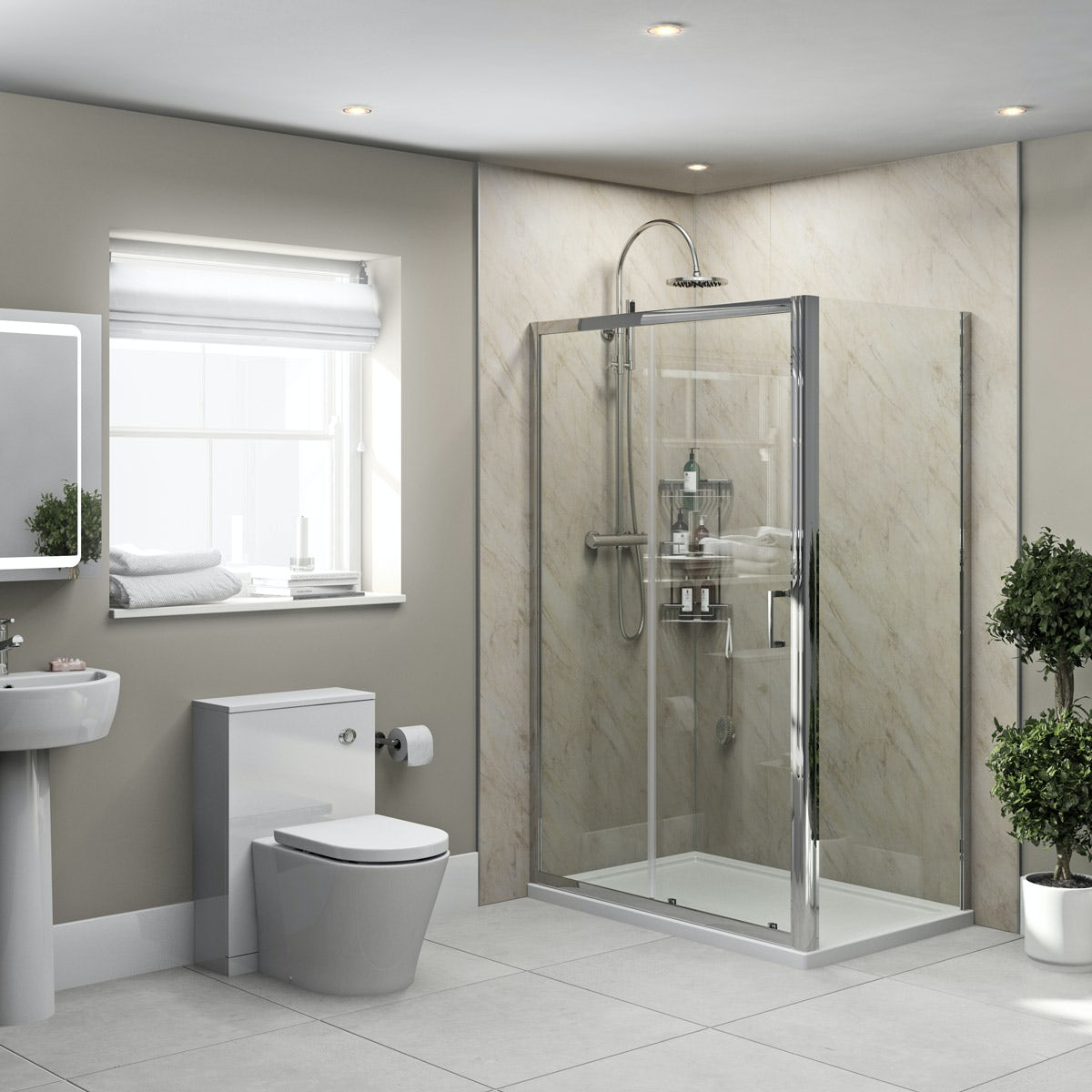 Orchard Pergamon Marble shower wall panel 2400 x 1000