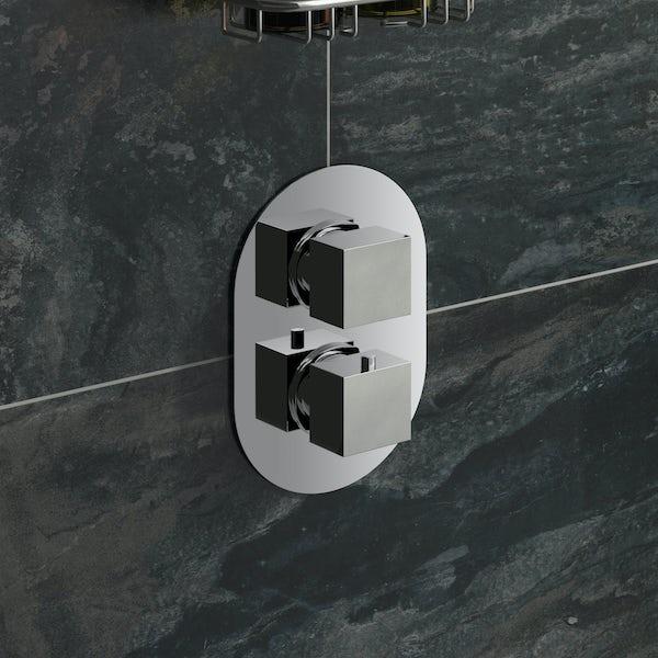 Cubik Oval Twin Valve and Circular Head Set