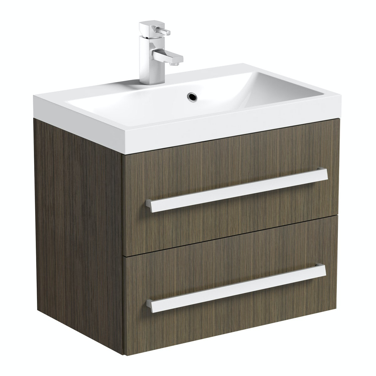 Orchard Wye Walnut Wall Hung Vanity Unit With Sink 600mm