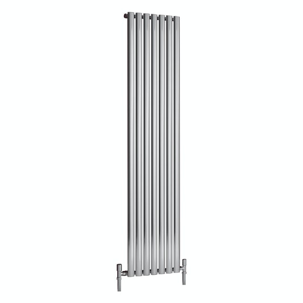 Reina Nerox single polished stainless steel designer radiator