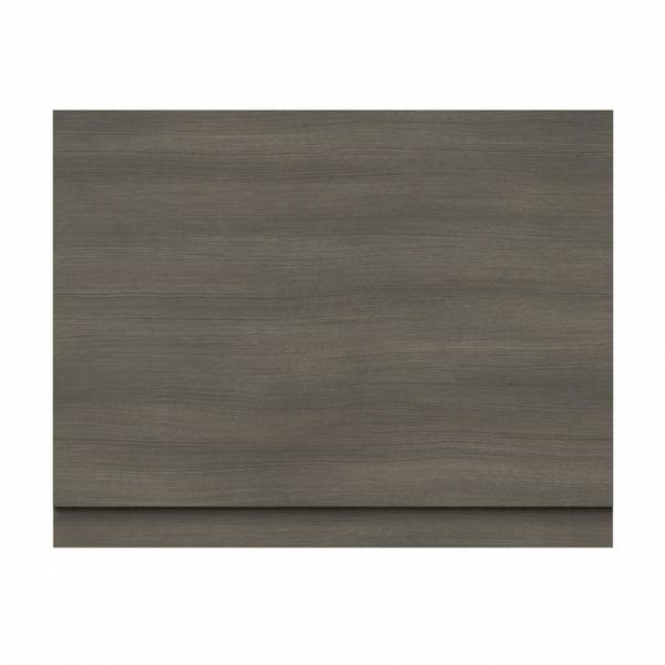 Drift Walnut Wooden Bath End Panel 800