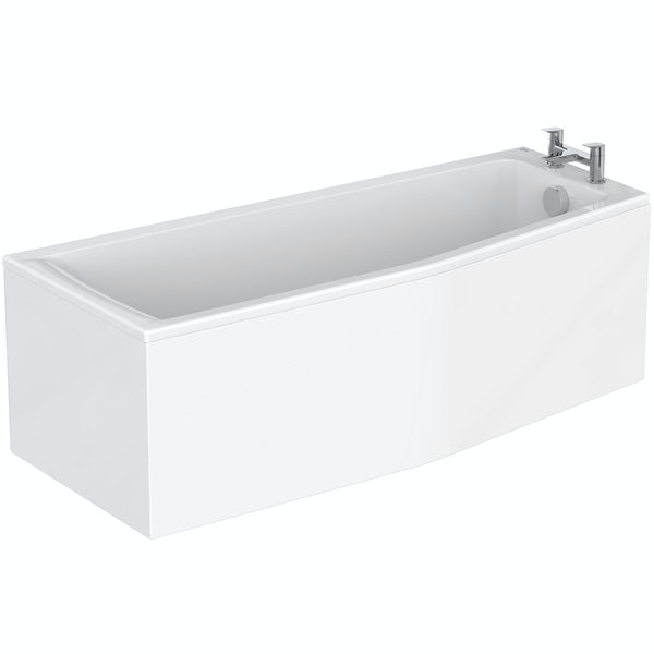 Ideal Standard Concept Space white complete right handed shower bath suite 1700 x 700