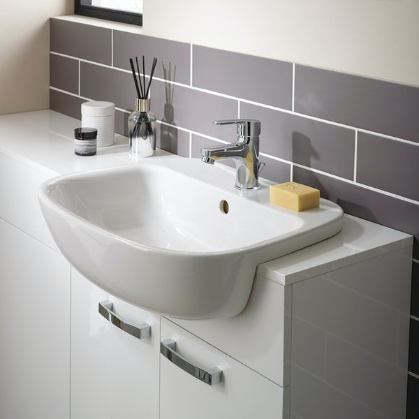 Ideal Standard Studio Echo 1 tap hole semi recessed basin 550mm