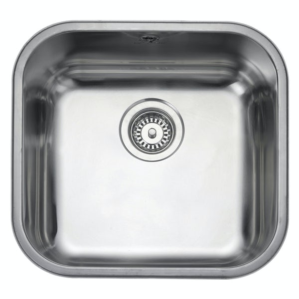 Rangemaster Atlantic Classic 1.0 bowl undermount kitchen sink with waste