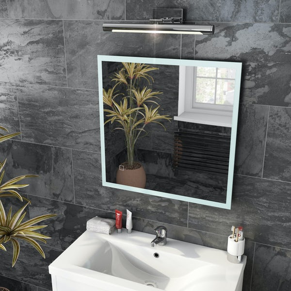Mode Mayne LED illuminated mirror 600 x 600mm with demister