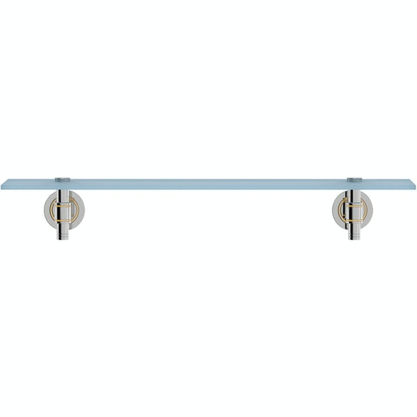 Accents premium traditional frosted glass shelf
