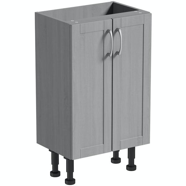 The Bath Co. Newbury dusk grey floor cabinet 500mm
