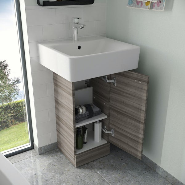 Ideal Standard Concept Space elm pedestal unit with basin 300mm