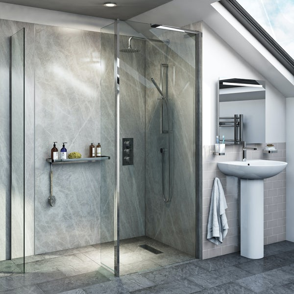 The Bath Co. Dulwich stone grey complete wet room furniture suite