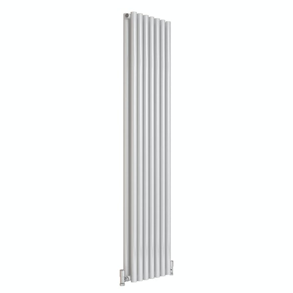 Reina Round white double steel designer radiator