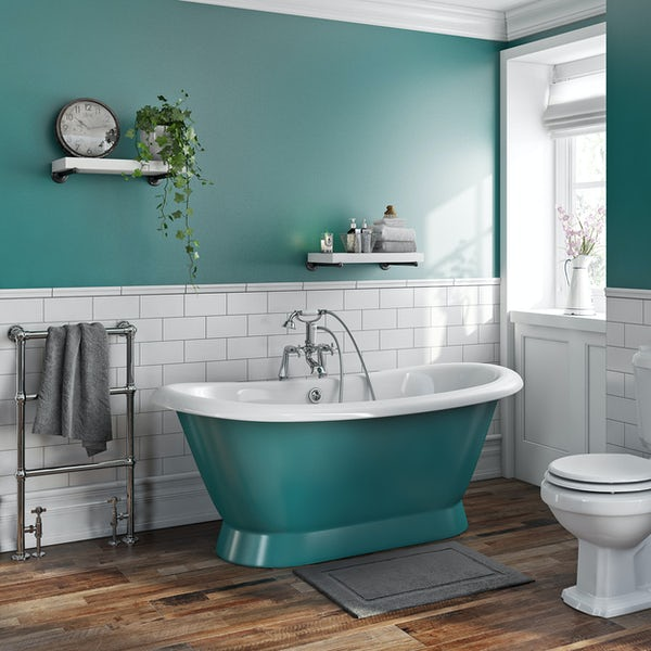 Artist Collection Totally Turquoise cast iron bath