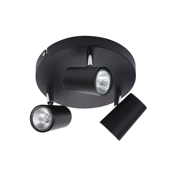 Forum Apus black 3 light kitchen ceiling light