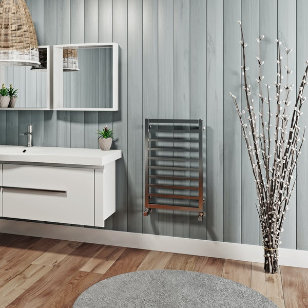 Mode Burton chrome heated towel rail 700 x 450