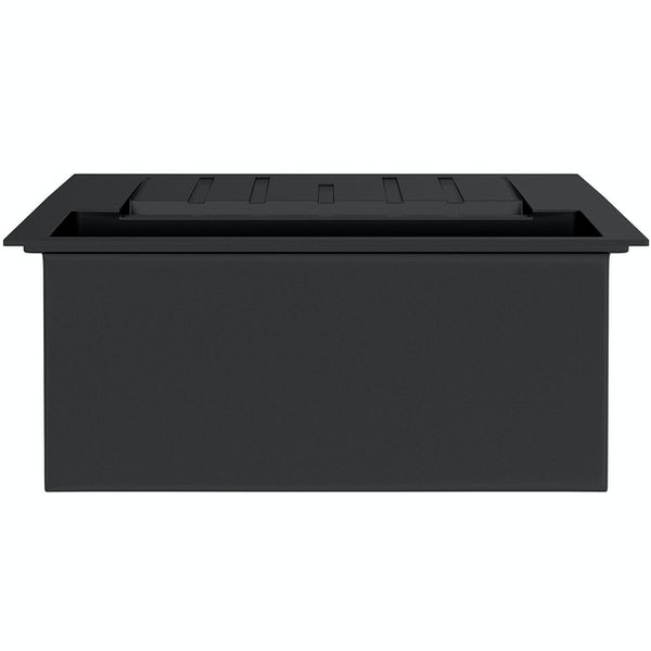 Rangemaster Andesite 1.5 bowl granite kitchen sink with waste and Aquaclassic tap