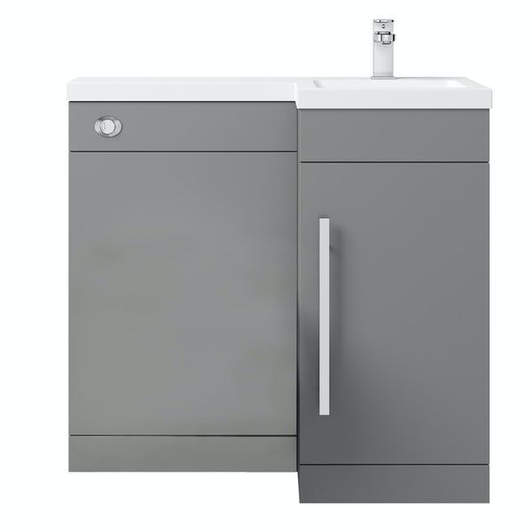 Orchard MySpace slate matt grey right handed combination unit including concealed cistern