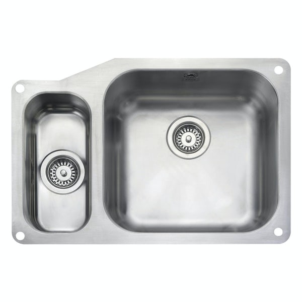 Rangemaster Atlantic Classic 1.5 bowl undermount left handed kitchen sink