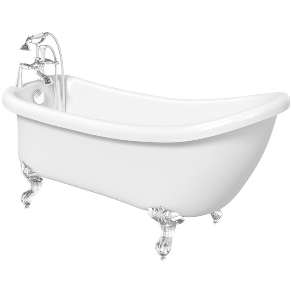 The Bath Co. Winchester roll top bath with ball and claw feet offer pack