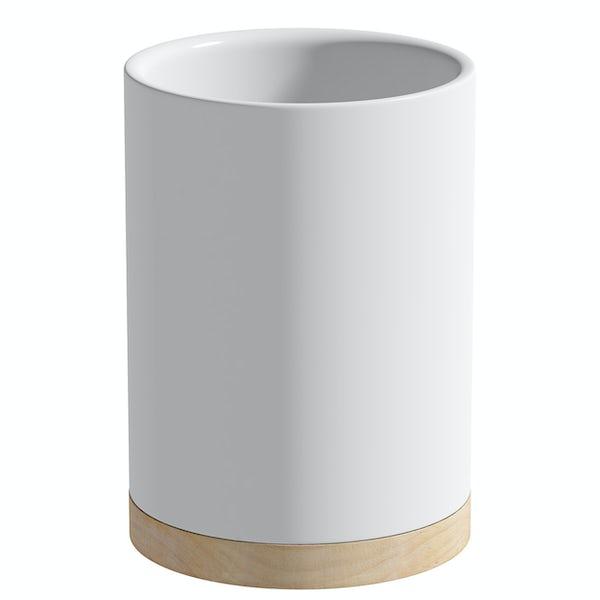 Accents Whitehaven white ceramic 3 piece bathroom set