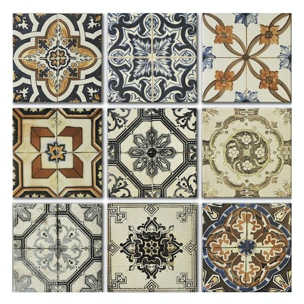 Nikea matt mix pattern tile set 200mm x 200mm