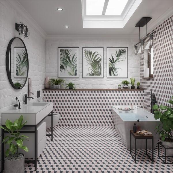British Ceramic Tile Illuson Feature matt wall and floor tile 331mm x 331mm