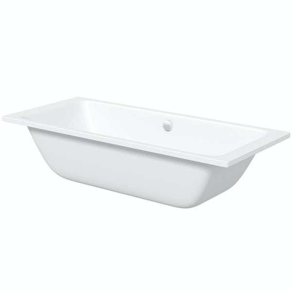 Kaldewei Puro Duo straight steel bath with leg set 1800 x 800 with no tap holes