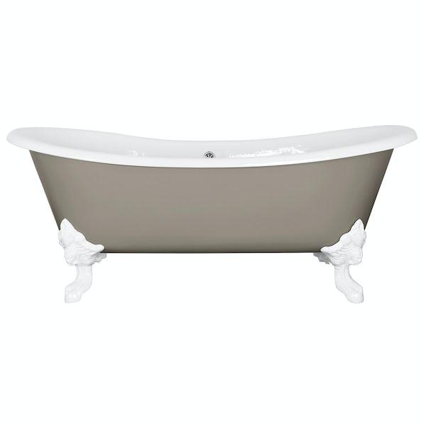 The Bath Co. Dover pavilion grey cast iron bath