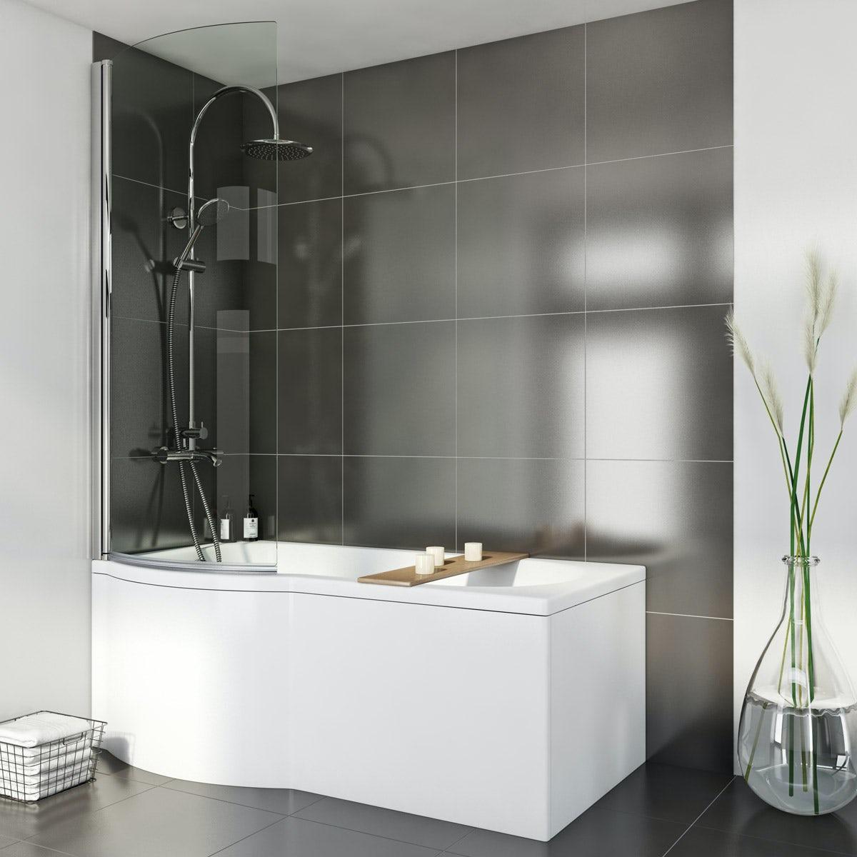 Orchard P Shaped Left Handed Shower Bath Victoriaplum Com