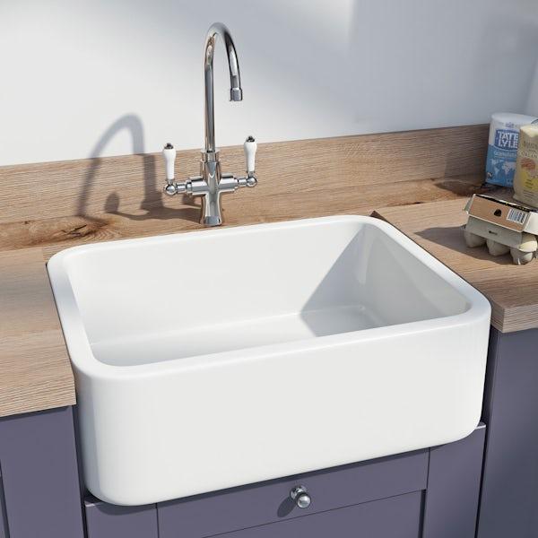 Schön Barrow single ceramic sink