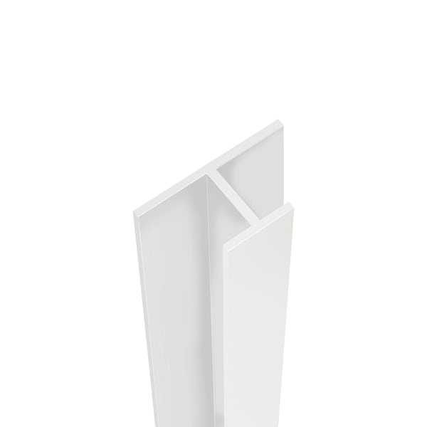 Showerwall White Gloss mid joint profile for waterproof wall panels