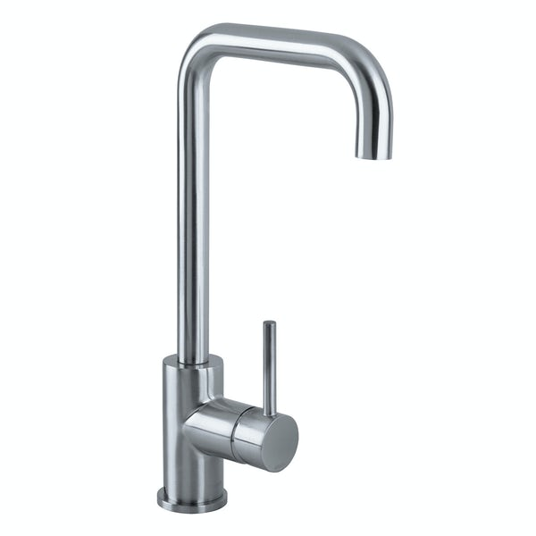 Bristan Lemon brushed nickel easyfit single lever kitchen mixer tap