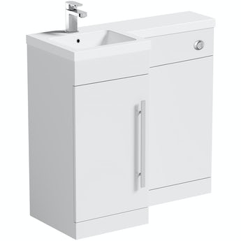 Orchard MySpace white left handed unit including concealed cistern