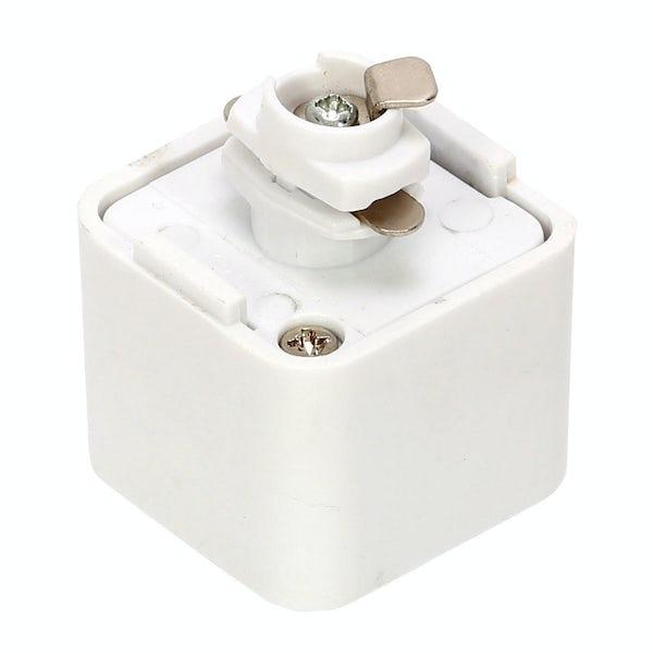 Forum Lyra 240V white track adaper