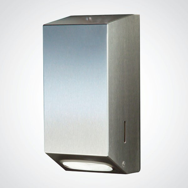 Dolphin commercial toilet tissue dispenser with satin finish