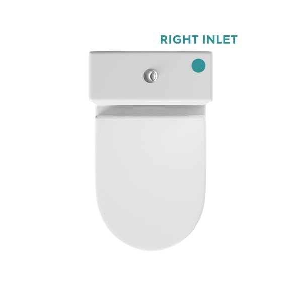 Orchard Derwent round compact close coupled toilet with luxury wrap soft close seat