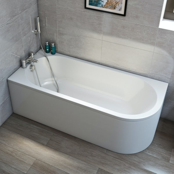Orchard Elsdon left handed J shaped single ended bath 1700 x 750