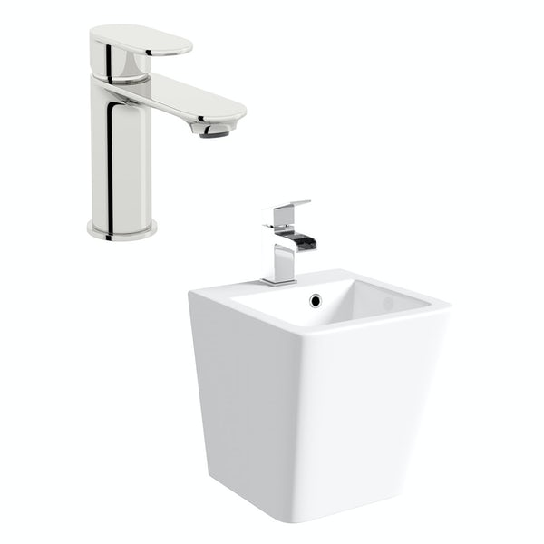 Orchard Montreal 1 tap hole wall hung basin 370mm with tap